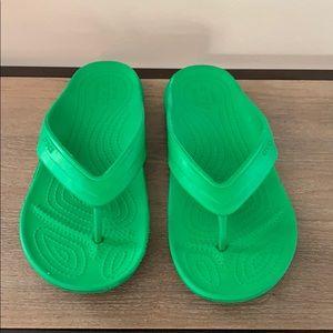 Crocs sandals. Candy green color!